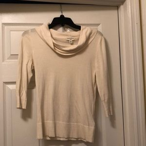 Cream banana republic sweater